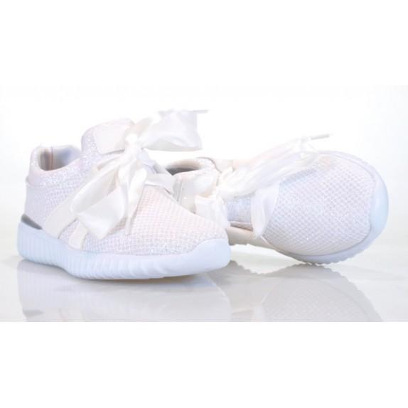 Adidasy błyszczące Rosemary białe
