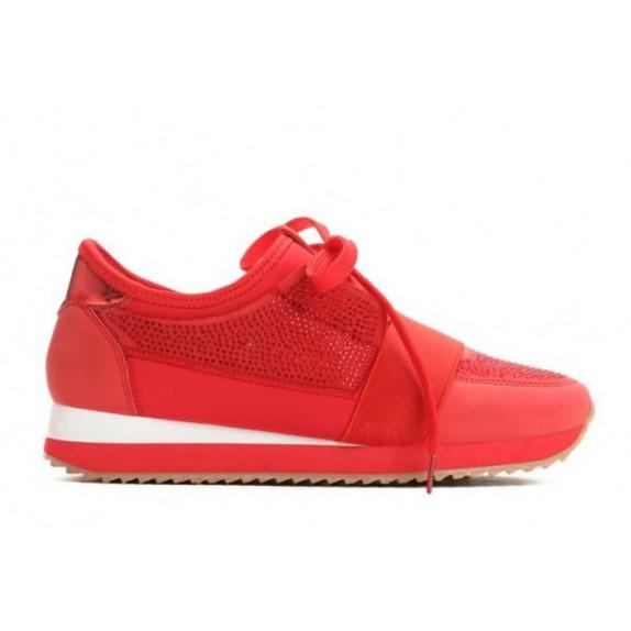 Buty sportowe cyrkonie Joy czerwone