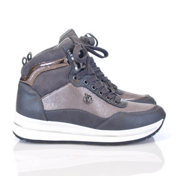 Sneakersy błyszczące Voila szare