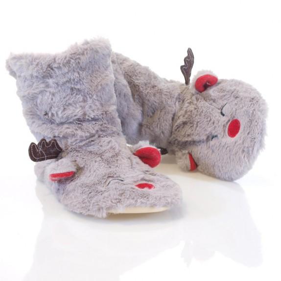 Kapcie bambosze Rudolf szare