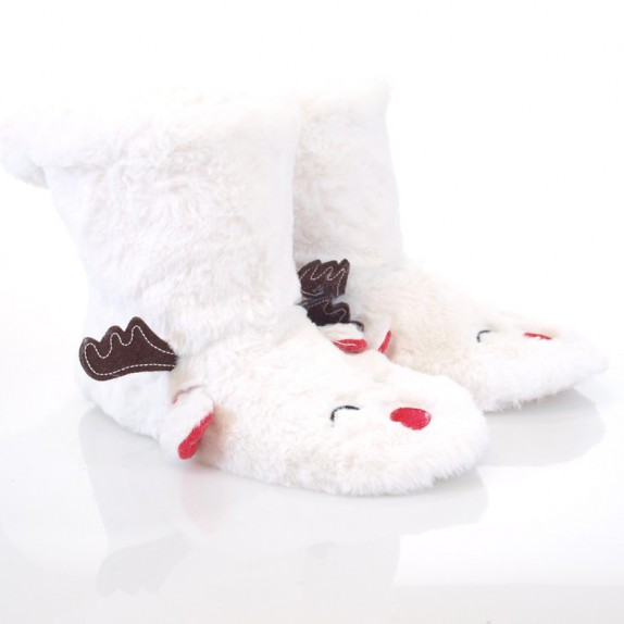 Kapcie bambosze Rudolf białe