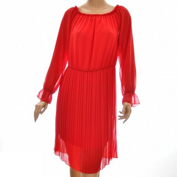 Sukienka plisowana Amalia czerwona