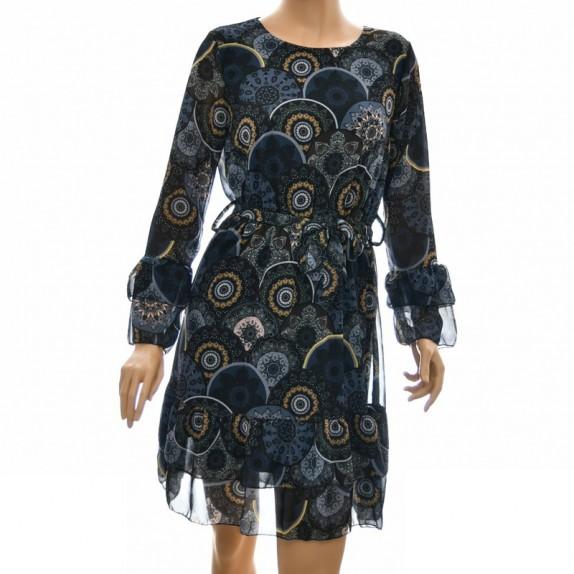 Sukienka wzorzysta Parisa granatowa