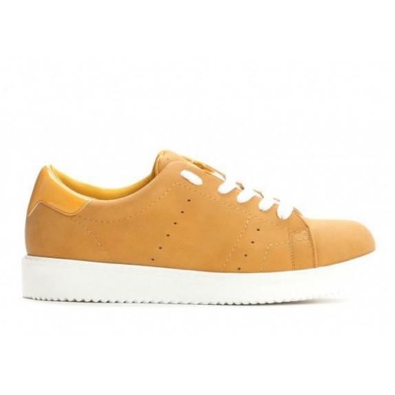 Trampki sneakersy Abbi musztardowe