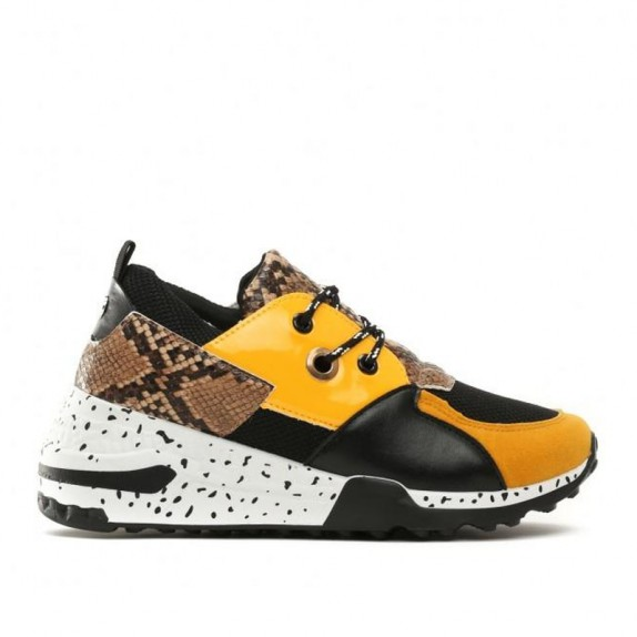 Sneakersy wężowe Maddy żółte